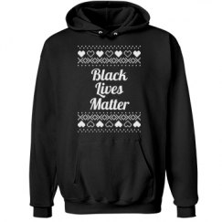 Hearts & Hugs Black Lives Matter Hoodie - White Detail
