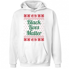 Booze & Bows Black Lives Matter Hoodie - Green on Red