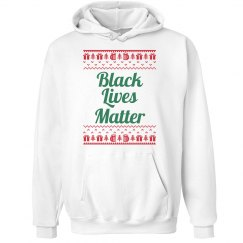 Gifts & Trees Black Lives Matter Hoodie - Green on Red