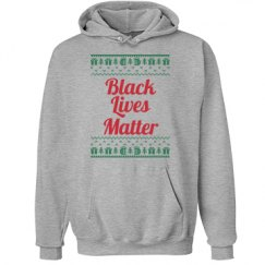 Gifts & Trees Black Lives Matter Hoodie - Red on Green