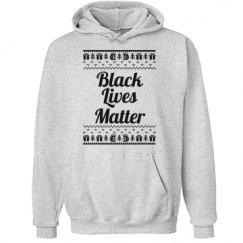 Gifts & Trees Black Lives Matter Hoodie - Black Detail