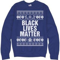 Dreidel & Gift Hanukkah Black Lives Matter - White
