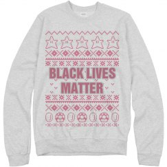 Mario Black Lives Matter Ugly Sweater - Pink Detail