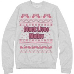Cats Black Lives Matter Ugly Sweater - Pink Detail