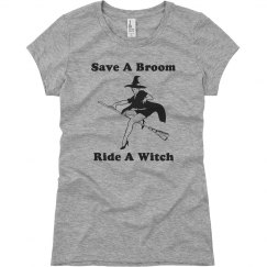 Halloween Ride A Witch