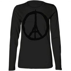 pray for paris peace sign