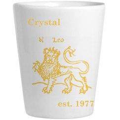 leo shot glass