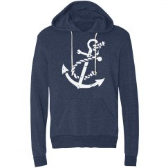 Navy Anchor Hoodie
