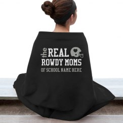 A Warm and Trendy Real Rowdy Football Mom Blankets