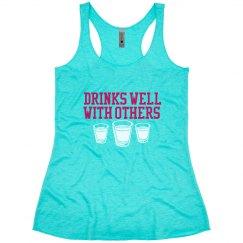 Drinks Well Tank Blue