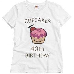 Cupcakes 40th birthday