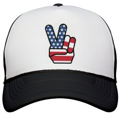 Red White and Peace Cap