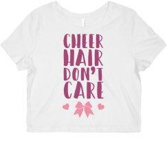 Cheer Hair Don't Care Bows & Hearts