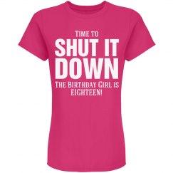 Birthday girl is Eighteen