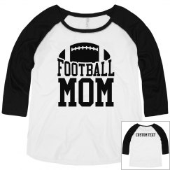 Football Mom Plus Sized Raglan