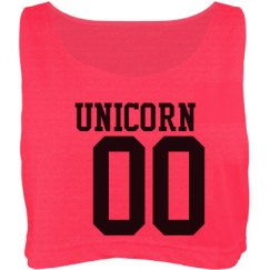 Unicorn crop top
