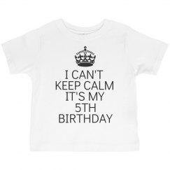 It's my 5th birthday