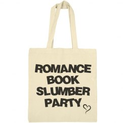 Romance book slumber party bag