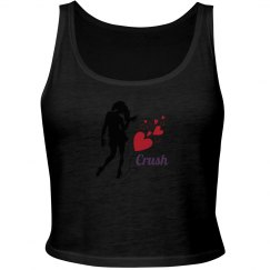 Crush - White Girls fitted cropped tank