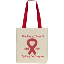 Aids Awareness Ribbon Bag