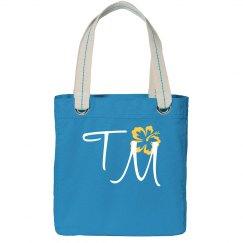Custom Initials Tote Bag