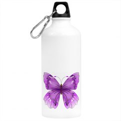 Elegant  Purple Butterfly Beverage Bottle