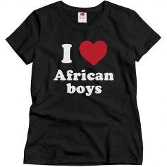 I love African boys!