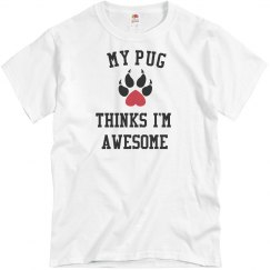 My pug loves me