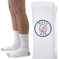 Navy dad socks