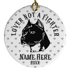 Pet Pitbull Ornament
