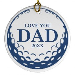 Golf Dad Ornament