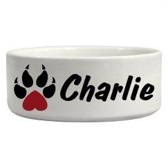 Charlie, Dog bowl