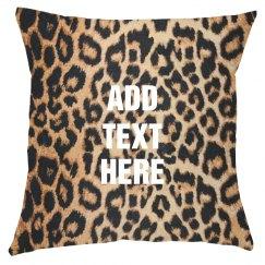 Custom Text Trendy Leopard