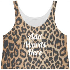 Custom Text Leopard Print