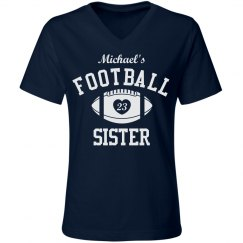 The Custom Football Family Sister With Name Number