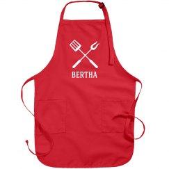 Bertha personalized apron