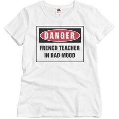 Teacher in bad mood