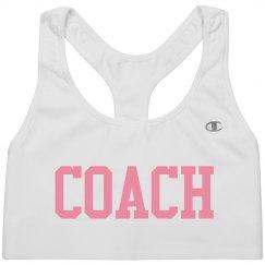 Coach sports bra