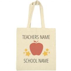 Custom Teacher Tote Bag Gift