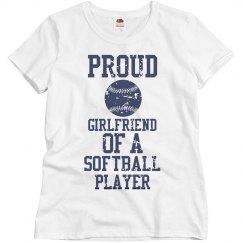 Proud girlfriend of a softball player