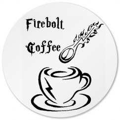 Firebolt Coffee Coaster