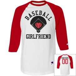 Sporty Baseball Girl Shirt With Back Name Number