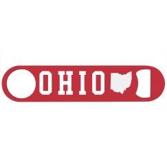 Custom State Ohio Bottle Opener