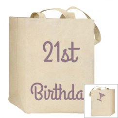21ST Birthday Tote Bag