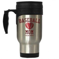 Baseball Mom Travel Mug