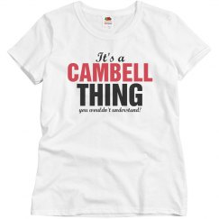 It's a Cambell thing