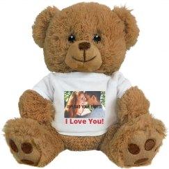 Cute Custom Photo Valentine's Bear Gift
