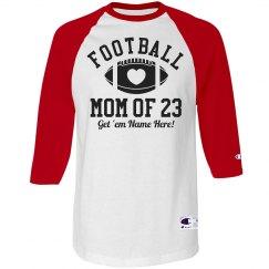 Custom Rhinestone Football Mom