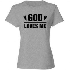 God Loves Me Rhinestones