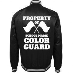 Trendy Property Of Band Color Guard Bomber Jacket